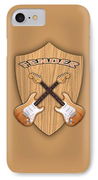Fender Stratocaster Natural Color Shield Phone Case by Doron Mafdoos