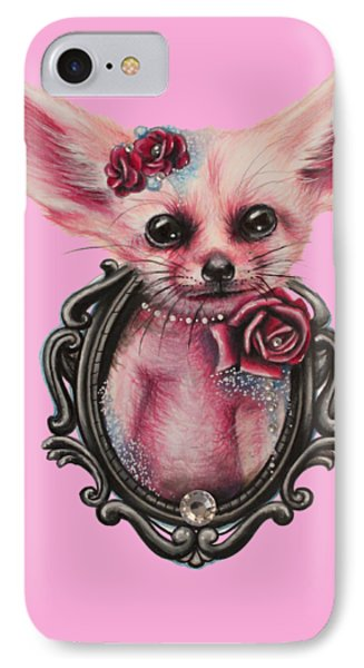 IPhone Case featuring the drawing Fennec Fox by Sheena Pike