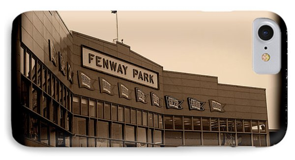 Fenway Park Baseball Stadium - Boston Red Sox - Antiqued Series IPhone Case