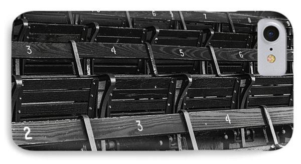 Fenway Park Blue Bleachers Bw IPhone Case by Susan Candelario