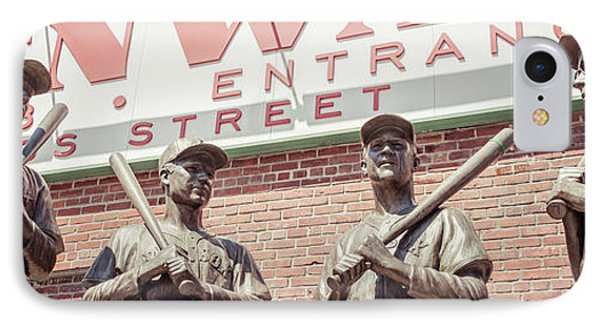 Fenway Park Bronze Statues Panorama Photo IPhone Case by Paul Velgos