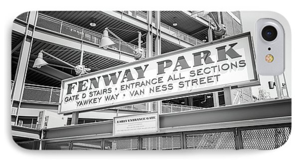 Fenway Park Gate D Black And White Photo IPhone Case by Paul Velgos