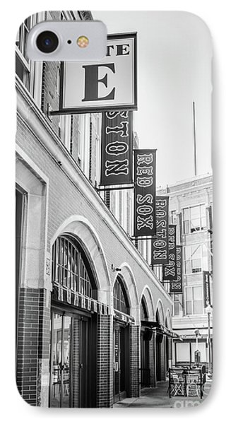 Fenway Park Gate E Entrance Black And White Photo IPhone Case by Paul Velgos