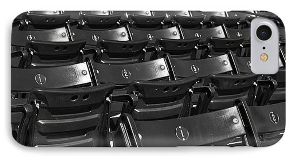 Fenway Park Red Bleachers Bw IPhone Case by Susan Candelario