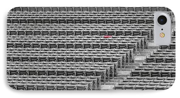 Fenway Park Red Chair Number 21 Bw IPhone Case by Susan Candelario