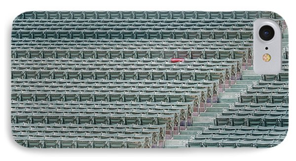 Fenway Park Red Chair Number 21 IPhone Case by Susan Candelario