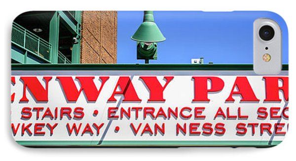 Fenway Park Sign Gate D Entrance Panorama Photo IPhone Case by Paul Velgos