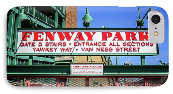 Fenway Park Sign Gate D Entrance Photo IPhone Case by Paul Velgos