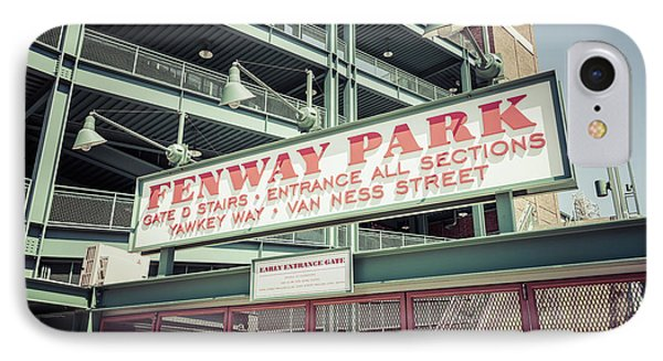 Fenway Park Sign Gate D Retro Photo IPhone Case by Paul Velgos