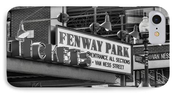 Fenway Park Tickets Bw IPhone Case by Susan Candelario
