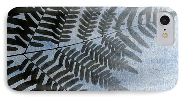 Fern Abstracted In Blue IPhone Case