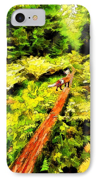 IPhone Case featuring the digital art Fern Forest Path In Autumn by ABeautifulSky Photography