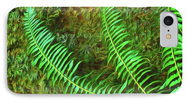 Fern Fronds On Mossy Log IPhone Case
