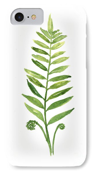 Fern Leaf Watercolor Painting IPhone 7 Case