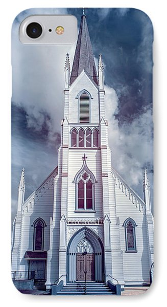 Ferndale Church In Infrared IPhone Case by Greg Nyquist
