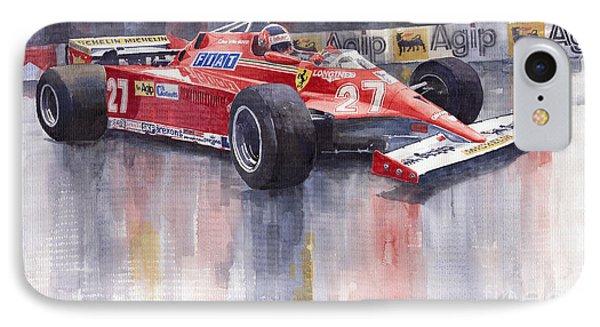 Ferrari 126c 1981 Monte Carlo Gp Gilles Villeneuve Phone Case by Yuriy  Shevchuk