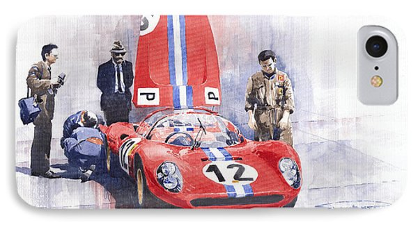 Ferrari 206 Sp Dino 1966 Nurburgring Pit Stop IPhone Case by Yuriy  Shevchuk