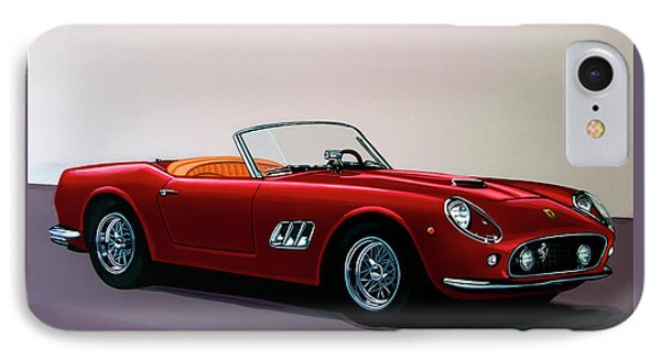 Ferrari 250 Gt California Spyder 1957 Painting IPhone Case by Paul Meijering