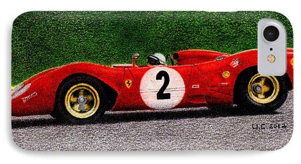 Ferrari 312p Pedro Rodriguez 1969 Phone Case by Ugo Capeto