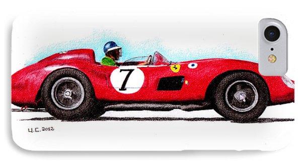 Ferrari 335s Mike Hawthorn 1957 Phone Case by Ugo Capeto