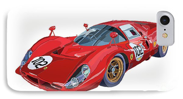 Ferrari 412p 330 P4 1967 Le Mans IPhone Case by Yuriy  Shevchuk