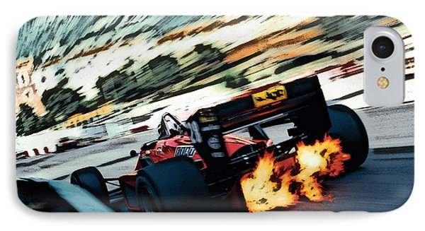 Ferrari 156/85 V6 IPhone Case by Thomas M Pikolin
