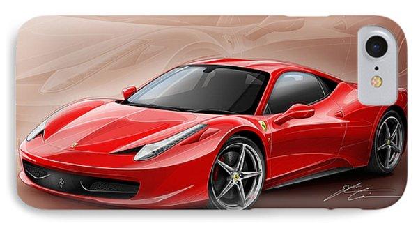 Ferrari 458 2011 IPhone Case