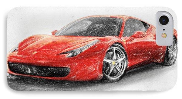 Ferrari 458 Italia IPhone Case by Taylan Apukovska
