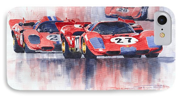 Ferrari 512 S 1970 24 Hours Of Daytona IPhone Case by Yuriy  Shevchuk