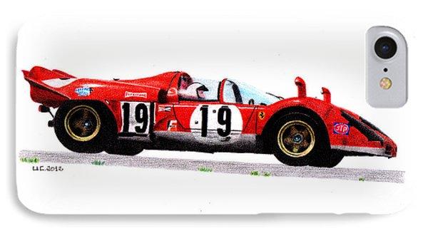 Ferrari 512s Mario Andretti 1970 Phone Case by Ugo Capeto