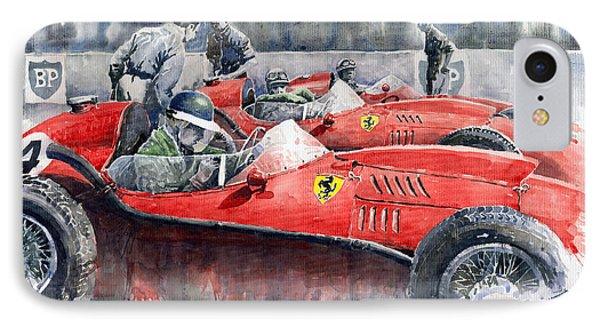 Ferrari Dino 246 F1 1958 Mike Hawthorn French Gp  IPhone Case