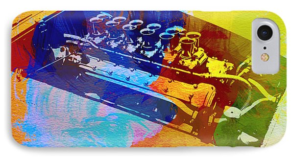 Ferrari Engine Watercolor IPhone Case