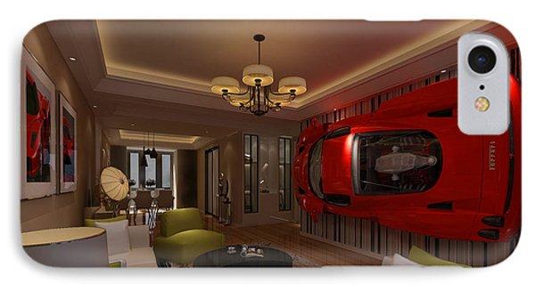 Ferrari Enzo Art Wall IPhone Case by Edier C