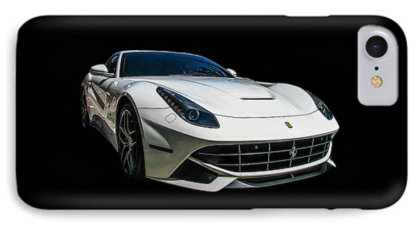 Ferrari F12 Berlinetta In White IPhone Case by Samuel Sheats