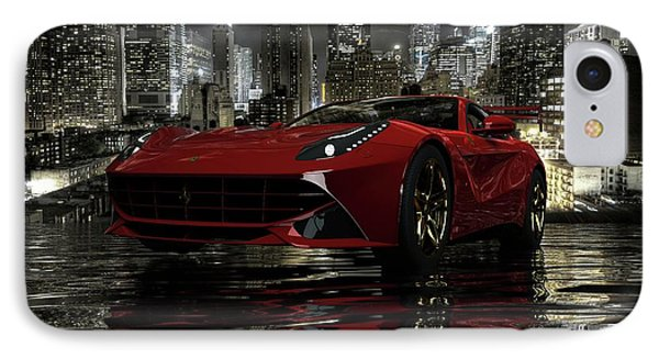 IPhone Case featuring the photograph Ferrari F12berlinetta by Louis Ferreira