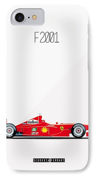 Ferrari F2001 F1 Poster IPhone Case by Beautify My Walls