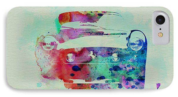 Ferrari Front Watercolor IPhone Case by Naxart Studio