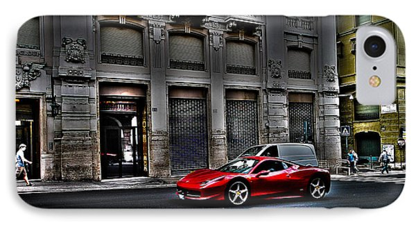 Ferrari In Rome IPhone 7 Case by Effezetaphoto Fz