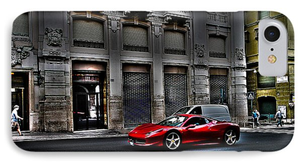 Ferrari In Rome IPhone Case by Effezetaphoto Fz