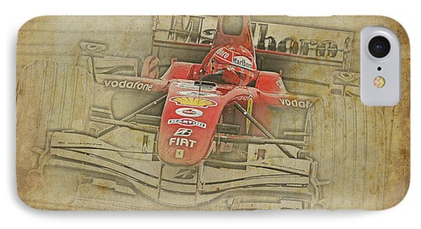 Ferrari Race Car, Gift For Men, Brown Background IPhone Case by Pablo Franchi