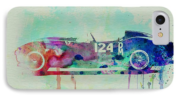 Ferrari Testa Rossa Watercolor 2 IPhone Case by Naxart Studio