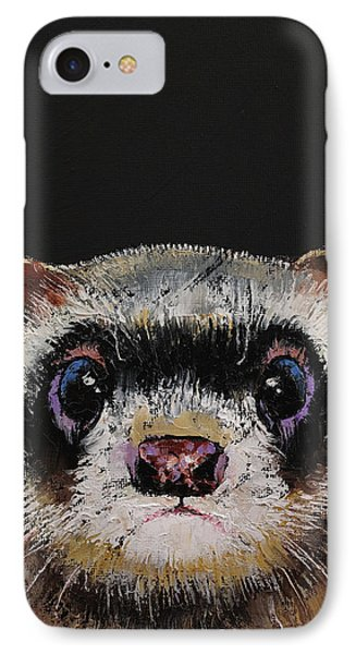 Ferret IPhone Case by Michael Creese