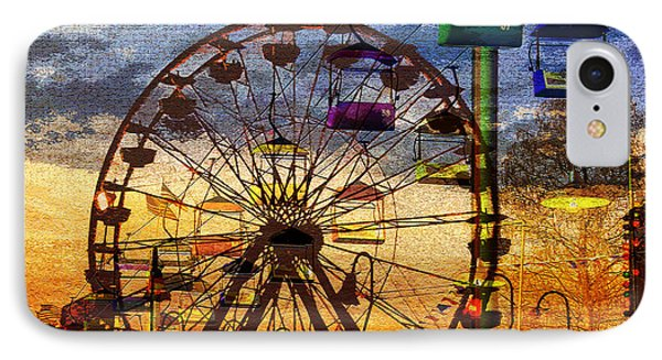 IPhone Case featuring the digital art Ferris At Dusk by David Lee Thompson