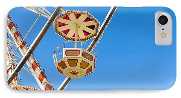 IPhone Case featuring the photograph Ferris Wheel Cars In Toulouse by Semmick Photo