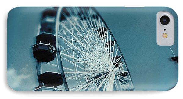 IPhone Case featuring the photograph Blue Ferris Wheel by Douglas MooreZart