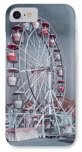 Ferris Wheel In Morning IPhone Case by Greg Nyquist