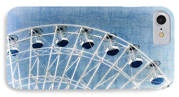 Wonder Wheel Series 1 Blue IPhone Case by Marianne Campolongo