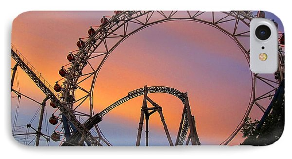 Ferris Wheel Sunset IPhone Case by Eena Bo