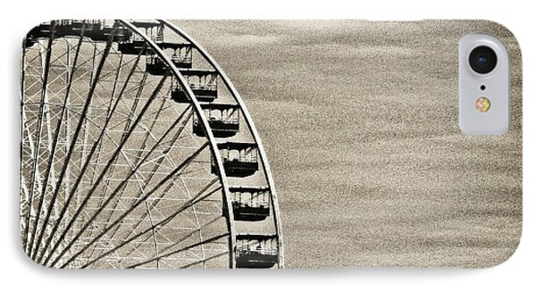 Ferris Wheel In Sepia IPhone Case by Tony Grider