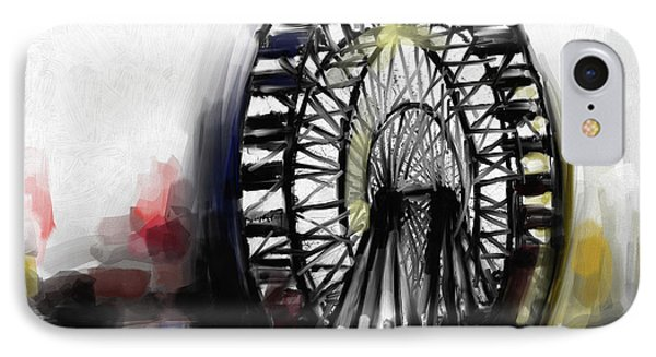 Ferris Wheel Tower IPhone Case by Mawra Tahreem